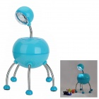 Creative Alien Style 360 Degree Rotatable White Light LED Desk Lamp - Blue + Silver (3xAAA)