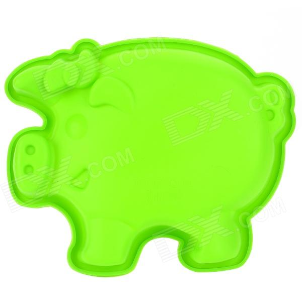 Cute Pig Style Silicone DIY Cake / Bread / Handmade Soap Mould - Green diy decorative butterfly style fondant cake silicone module green