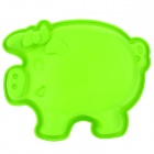 Cute Pig Style Silicone DIY Cake / Bread / Handmade Soap Mould - Green