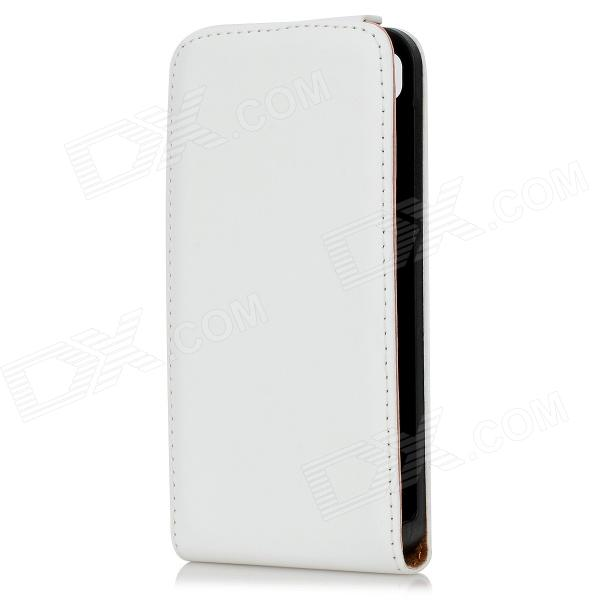 Classic Protective Sheepskin Leather Case w/ Magnetic Button for Blackberry Z10 - White printio чехол для blackberry z10