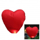 Heart Shaped Sky Lantern Kongming Lantern - Red