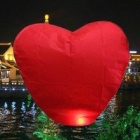 Heart Shaped Sky Lantern Kongming lanterna - Red