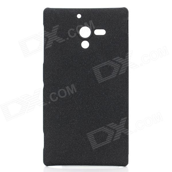 Special Protective Quicksand PC Back Case for Sony Xperia ZL X Z LT35h L35H - Black protective tpu back case for sony xperia zl lt35h l35h blue