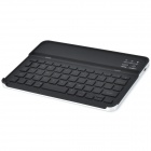 58-Key Plastic Bluetooth V3.0 Wireless Keyboard w/ Green Light for iPad Mini - Black + Silver