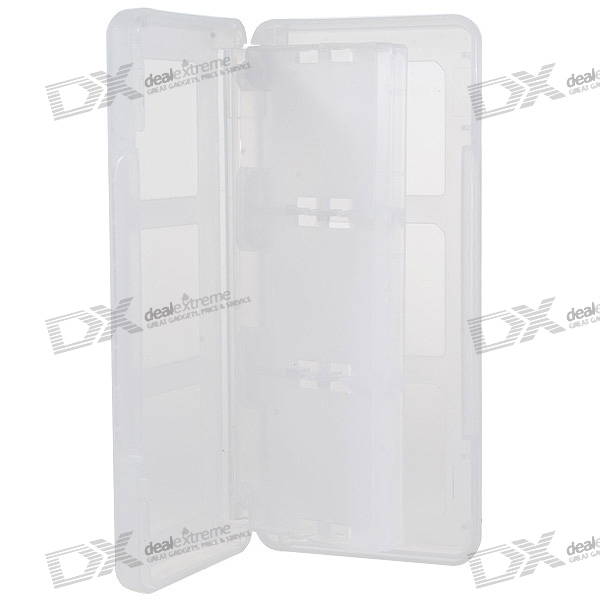Protective 6-Cart Game Cartridge Case for NDS/DS Lite/DSi (Translucent)