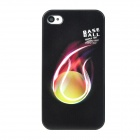 Colorfilm Base Ball Pattern Protective Plastic Case for iPhone 4 / 4S - Black