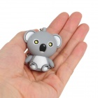 WLE6675 Cute Bear Style 2-LED White Flashlight Keychain - Grey (3 x AG3)