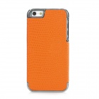 Snakeskin Pattern Electroplating Protective PC Back Case for Iphone 5 - Orange