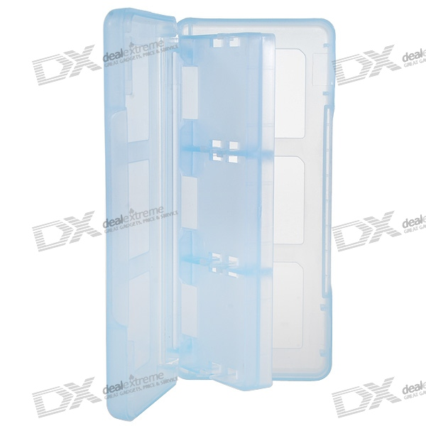 Protective 6-Cart Game Cartridge Case for NDS/DS Lite/DSi (Translucent Blue)