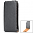 Classic Protective Sheepskin Leather Case w/ Magnetic Button for Blackberry Z10 - Black