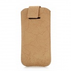 i5-BR-1 Protective PU Leather Auto Elastic Case Bag for iPhone 5 - Brown