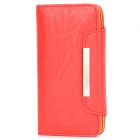 KALAIDENG Protective PU Leather Flip-Open Case for HTC New One (M7) - Red