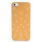 Peacock's Unfolded Tail Pattern Protective Aluminum Alloy Back Case for Iphone 5 - Golden + Silver