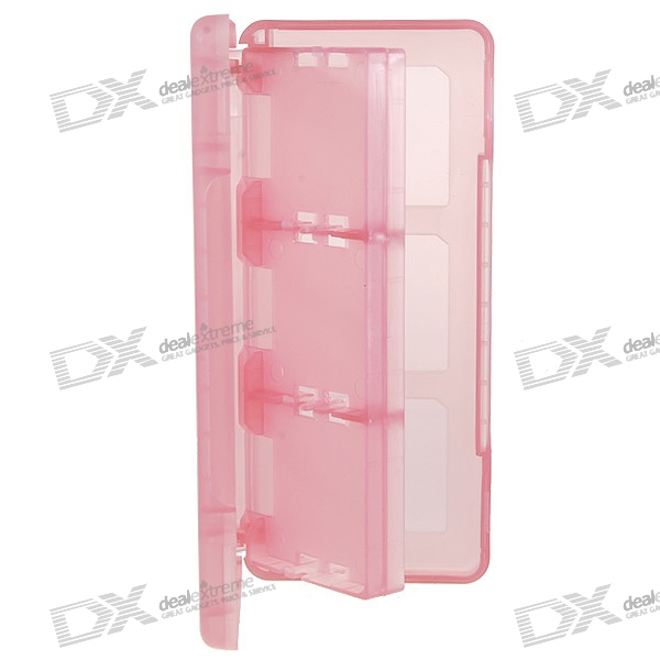 Protective 6-Cart Game Cartridge Case for NDS/DS Lite/DSi (Translucent Red)