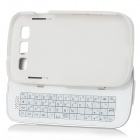 Ultrathin Bluetooth 50-key Slide-Out Keyboard Hard Case for Samsung Galaxy S3 i9300 - White
