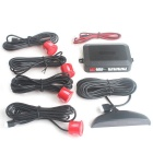 "DYW-L041 0.6"" LED 4-Sensor Ultrasonic Car Parking Reverse Backup Radar System - Red (DC 12V)"