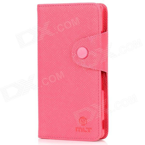 MLT A3518 Protective PU Leather Cover + TPU Back Case for SONY L36H - Rose