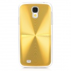 Stylish Shiny CD Texture Aluminum Alloy Protective Back Case for Samsung Galaxy S4 / i9500 - Golden