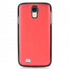 Protective Brushed Aluminum Alloy Back Case for Samsung Galaxy S4 i9500 - Claret