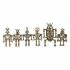 Robot DIY Affrontements collier en alliage de zinc Pendentif - Laiton antique (6 PCS)