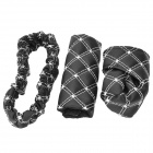 3-in-1 Car Gears + Rearview Mirror + Hand Brake Cover Set - Black + White