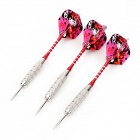 Cartoon Beauty Pattern Flight Nickel Plated Iron Darts - Red + Silver (3 PCS)