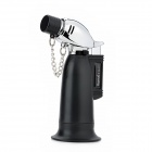 Windproof 1300'C Butane Jet Torch Lighter - Black + Silver
