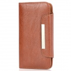 KALAIDENG Protective PU Leather Flip-Open Case for HTC New One (M7) - Brown