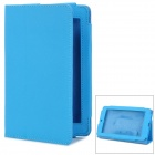 "Stylish 7"" Tablet PC PU Stand Case for Asus ME172 - Blue"