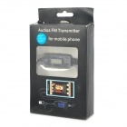 "FM185 Car 0.9"" LCD 3G FM Transmitter w/ Hands-Free for Iphone 4 / 5 - Black"