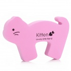 Cat Shaped Baby Door Guards Finger Protector Stopper - Pink