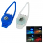 Bicycle Bike 2-Mode 3-LED 7-Color Security Safety Lights w/ Compass - Blue + White (2 x 2032)