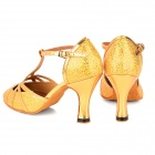 2041 Paillette Latin Dance High-Heeled Shoes for Women - Golden (Size-39 / Pair)