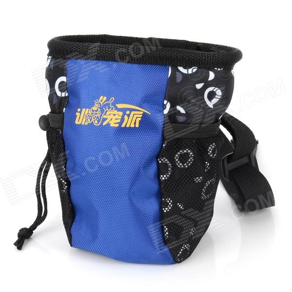 1217 Pet Dog Professional Training Bag Snacks Waist Pack Bag - Blue + Black