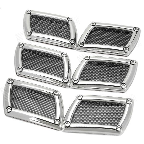 Фото 622 Car Side Air Flow Decorative Vent Fender Sticker - Black + Silver (6PCS)