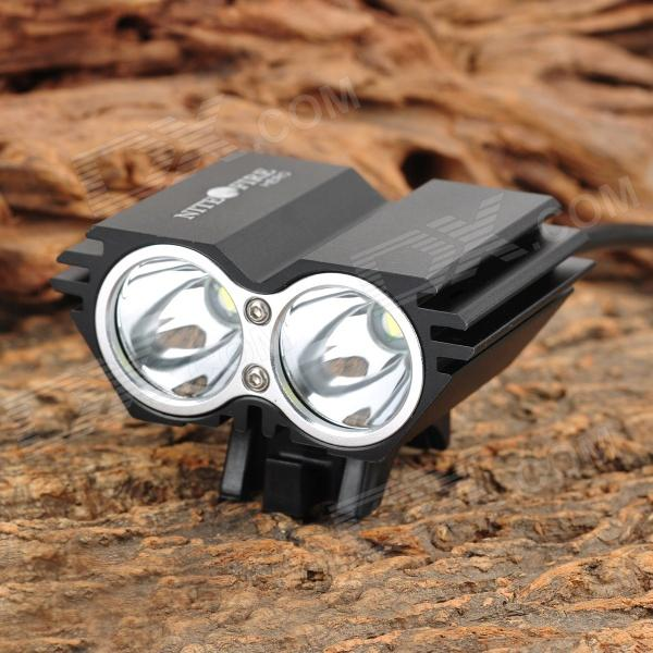 NITEFIRE HERO 1630lm 4-Mode White Bicycle Light w/ 2 x Cree XM-L U2 - Black (4 x 18650) sl 8203 2700lm 4 mode white bicycle light