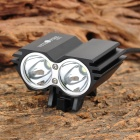 NITEFIRE HERO 1630lm 4-Mode White Bicycle Light w/ 2 x Cree XM-L U2 - Black (4 x 18650)