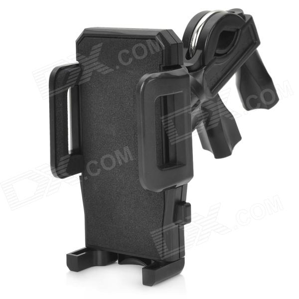 Universal Bicycle 360-Degree Swivel Mount Holder for Iphone + Mobile Phone - Black