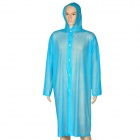 PE Outdoor Fishing Camping Raincoat - Blue
