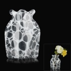 Creative Irregular Geometry Figure PVC Folding Vase - White + Transparent (Size S)