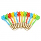 Plastic Darts Ballpoint Pen - Red + Yellow + Blue + Green (12 PCS)