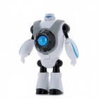 Robot Shaped Portable Handheld Fan - White + Black + Blue (2 x AA)