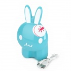 Lucky Rabbit 12-LED Rechargeable White Light Touch Energy-Saving Desk Lamp - White + Blue + Red