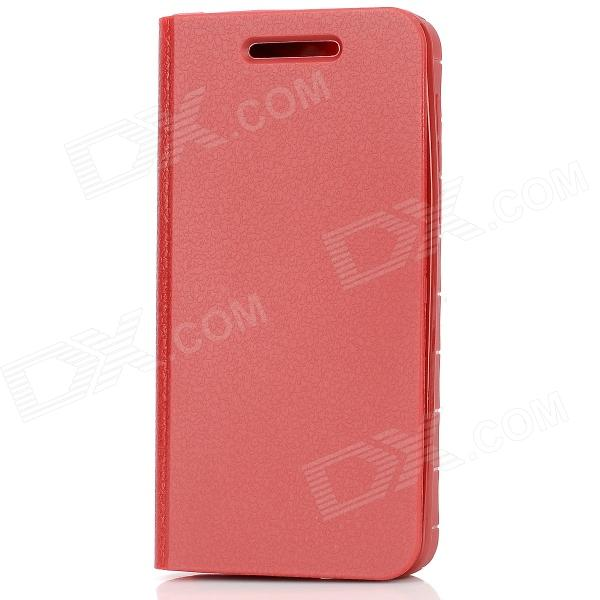 360 Degree Rotation Protective Soft Silicone Flip-Open Case for BlackBerry Z10 - Red