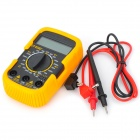 "DT 830 D + Portable 2"" LCD Digital Multimeter - Orange + svart (1 x 6F22)"