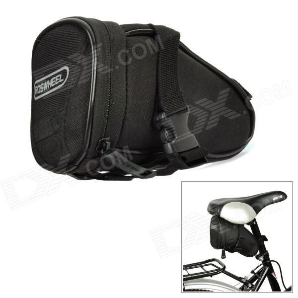 ROSWHEEL 13656 Cycling Bicycle Bike Saddle Seat Polyester Tail Bag - Black roswheel mtb bike bag 10l full waterproof bicycle saddle bag mountain bike rear seat bag cycling tail bag bicycle accessories