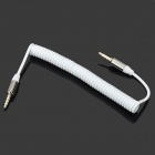 Flexible 3.5mm Male to Male Audio Connection Cable - White (144cm)