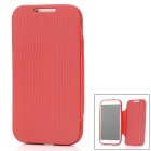 Ball Pattern Protective Soft Silicone Flip-Open Case for Samsung Galaxy S4 i9500 - Red