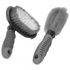 Car Rim Wheel Tire Cleaning Flexible Brush Set - Grey