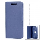 360 Degree Rotation Protective Soft Silicone Flip-Open Case for BlackBerry Z10 - Deep Blue